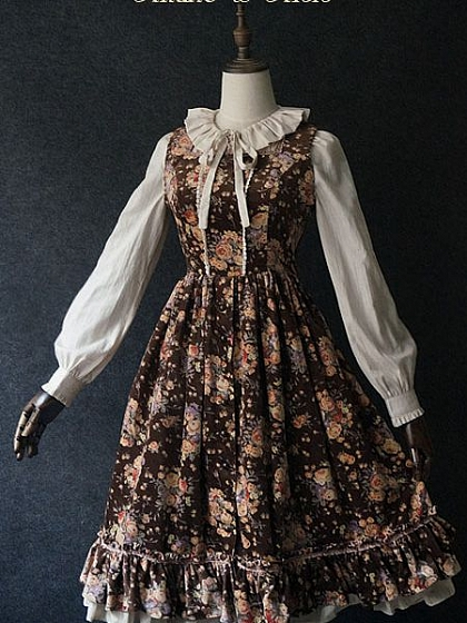 Flowers Wind Open-front JSK - By Akane Alois