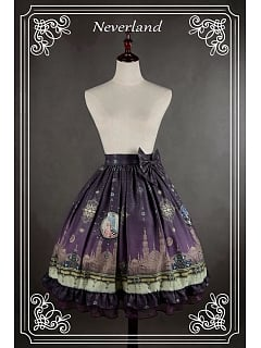 Custom Size Available Bowknot Decorated Natural Waistline Lolita Skirt - Arabian Nights by Souffle Song