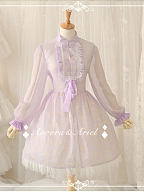 Mandarin Collar Long Sleeve Sheer Overall by Aurora and Ariel