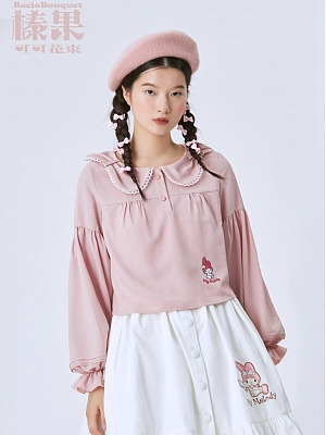 Sanrio Authorized Petal Collar Blouse by Bacio Bouquet