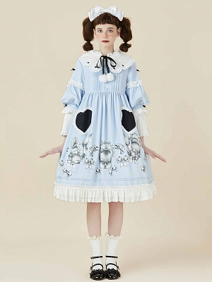 Looking for Alice Detachable Sleeves Lolita OP by Bacio Bouquet