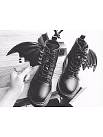 Winter Devil Bat Boots