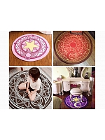 Cute Pink Magic Array Children Round Rug