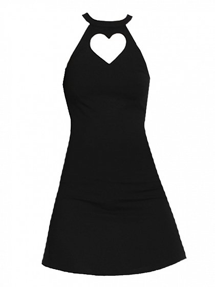 Heart Shaped Hollow Dress