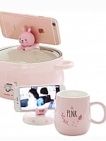 Kawaii Cartoon Bowl And Mug Two Piece