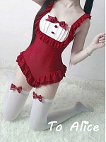 Kawaii Kitty Tail Maid Swimsuit
