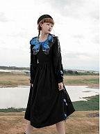 Morpho Split Sleeves Dress by Cheese Day