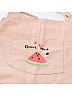 Embroidered Watermelon Tie Shoulder Strap Overall