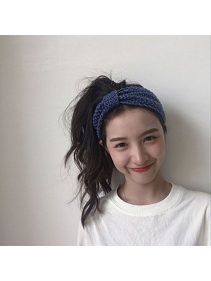 Active Girl Knit Bowknot Colorful Hairband by Uncleyao