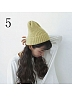 Knit Hemming Keep Warm Hat by Uncleyao