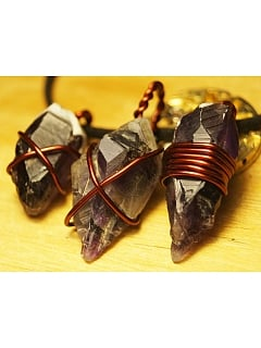 Rough Amethyst Long Necklace by Mr Yi's Steamland