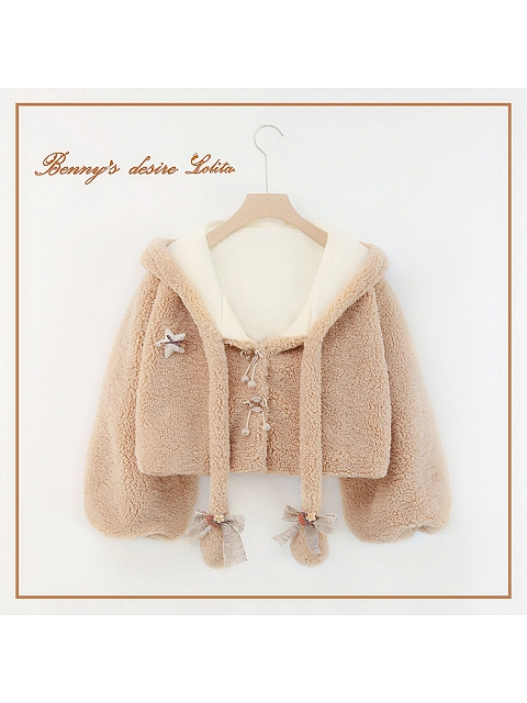 Movable Ears Solid Color Coat by Benny Desire Lolita