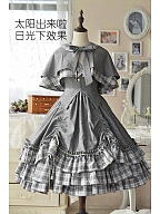 A Little Bit Heavy Academy Lolita Autumn Winter JSK with Cape by Doris Night
