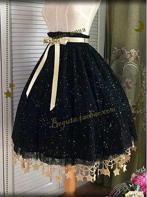 Single Layer Paillette Star Hemline Petticoat by Boguta