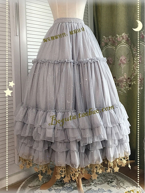 ON SALE-Layered Flounce Star Hemline Petticoat by Boguta