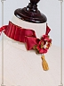Pre-order Night at the Circus Wide Ruffled Ribbon Choker with Flower
