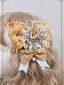 Pre-order Night at the Circus Square Delicate Ribbon and Flower Brooch