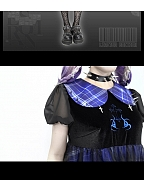 Witch Apocalypse Peter Pan Collar Puff Sleeves Lolita Dress by Blood Supply