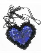 Witch Apocalypse Series Gothic Heart Shaped Plaid Bag by Blood Supply