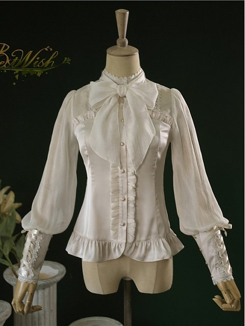 Holy Lily Long Bishop Sleeves Shirt by BestWish