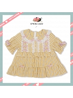 Dolls Wall Lolita Peter Pan Collar Plaid Blouse by CatsBroom