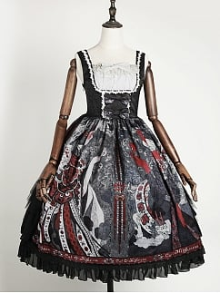 Halloween Witch Elegant Gothic Lolita Dress JSK I by Cat Highness