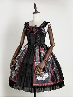 Halloween Witch Elegant Gothic Lolita Dress JSK II by Cat Highness