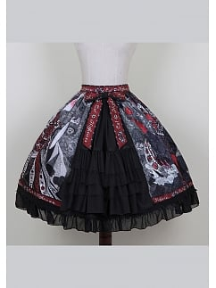 Halloween Witch Elegant Gothic Lolita Skirt SK by Cat Highness