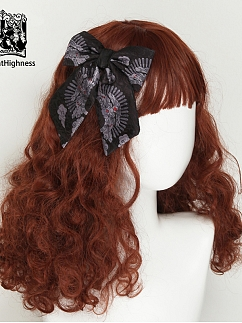 Halloween Witch Elegant Gothic Lolita Dress Matching Hairclip by Cat Highness