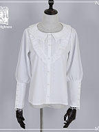 Basic Leg-of-mutton Sleeves Lolita Shirt by Cat Highness