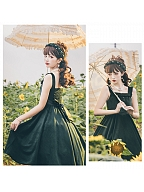Miss Tasha Vintage Elegant Lolita Dress JSK Set by Cat Highness