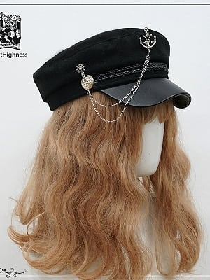 Lord Night Military Lolita Dress Matching Hat by Cat Highness