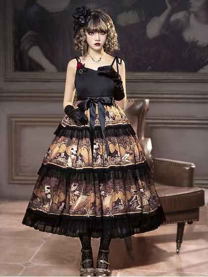 Pre-order Degas-Puppet Ballet Dancer Tiered-Skirt JSK by Cherry Bomb