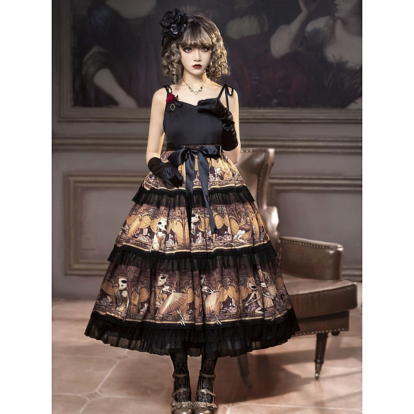 cd7536f101e881 Odd Future · Cherry Bomb Dancers: Degas-Puppet Ballet Dancer Tiered-Skirt  JSK By Cherry Bomb