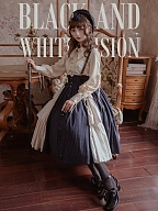 Black and White Vision Lolita Shirt by Original Project