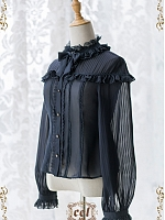 Pre-order The Dream of Wild Swans Stripe Chiffon Blouse by CEL