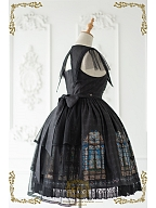 Church Stained Window Series Lolita Triple Layered Tulle Train