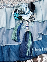 Pre-order Blue And White Porcelain Hairclip by Classic Puppet
