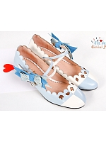 Summer Alice Themed Low-Heeled Sheep Leather Fashion Shoe by Classical Puppets