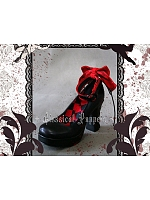 Round-Toes Ankle Straps Lace-Up Back High Heel Shoes by Classical Puppets