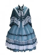 In A Foggy Forest Lolita Dress Tea Party OP And Mantle by Cat Romance