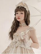 Dim Moonlight Lolita Dress Matching Crown /Choker by Cat Romance