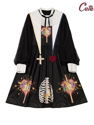 The Trial of Sariel Gothic Lolita Dress Long Sleeves OP by Cute Q