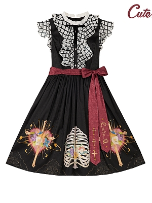 The Trial of Sariel Gothic Lolita Dress Flying Sleeves OP by Cute Q