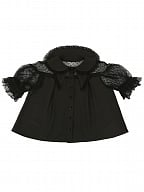 Small Butterfly Summer Short-sleeves Blouse by Crucis Universal Tailor Company