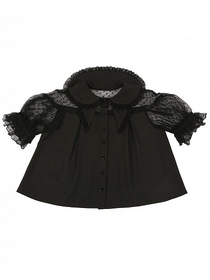 Pre-order Small Butterfly Summer Short-sleeves Blouse by Crucis Universal Tailor Company
