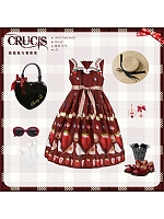 Bird and Strawberry Printed Sailor Collar JSK by Crucis Universal Tailor Company