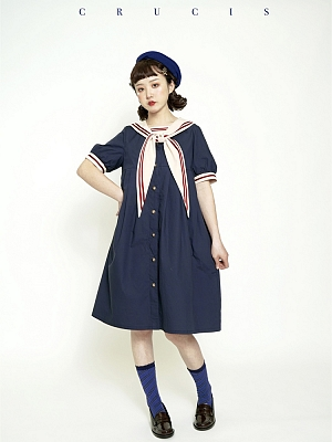 Little Sailor Wind Girl Dress by Crucis Universal Tailor Company
