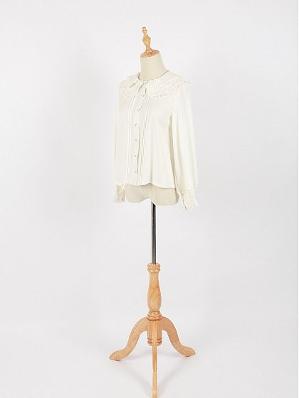 Ruffled Double-Layer Peter Pan Collar Blouse by Crucis Universal Tailor Company