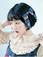Bird and Strawberry Printed Bowknot Hairclip by Crucis Universal Tailor Company
